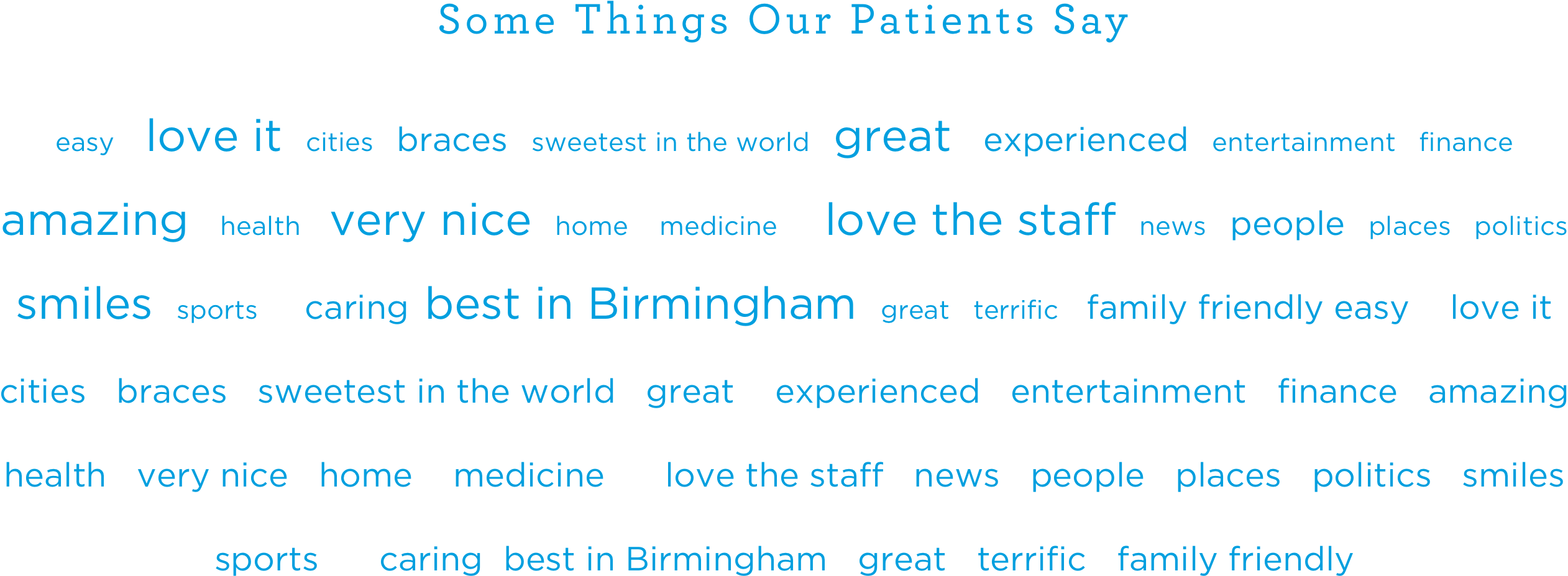 things our patients say